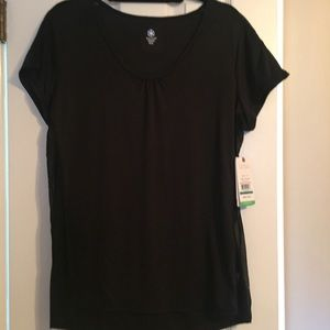 NWT women's black GAIAM yoga shirt size XL